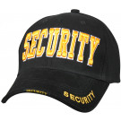 Black Law Enforcement Gold Security Deluxe Low Profile Adjustable Cap