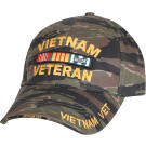 Tiger Stripe Vietnam Veteran Deluxe Adjustable Baseball Cap