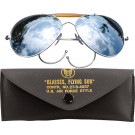 Mirror Lenses US Air Force Style Aviators Sunglasses With Case