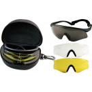 Black FIRE-TEC Interchangeable Sports Glasses