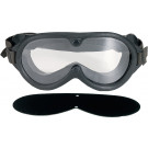 Black Military Sun-Wind-Dust Ballistic Goggles