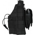 Black Military MOLLE Tactical Ambidextrous Modular Gun Holster
