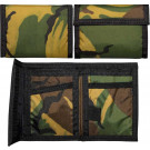 Woodland Camouflage Military Nylon Commando Tri-Fold Wallet