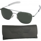 AO Eyewear Silver 57mm Genuine Air Force Pilots Sunglasses with Case