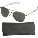 American Optics Gold GI 57mm Air Force Pilots Sunglasses