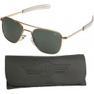Gold 55mm American Optical GI Air Force Pilots Sunglasses