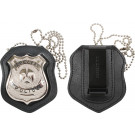 Cut Out & Clip On Leather Law Enforcement Badge Holder