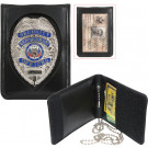 Black Leather Neck ID & Badge Holder