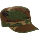 Woodland Camouflage Vintage Rip-Stop Adjustable Women's Military Patrol Fatigue Cap