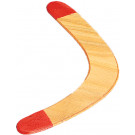 Wood Boomerang With Red Tips