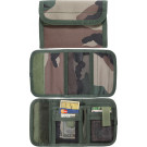 Woodland Camouflage Military Deluxe Nylon Commando Tri-Fold Wallet