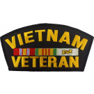 Vietnam Veteran Military Vet Fully Embroidered Official Iron On Patch 6""