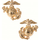 Gold Plated USMC Globe & Anchor Insignia Set