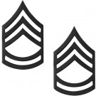 Black Subdued Sergeant 1st Class Insignia Set