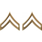 Gold Corporal Polished Insignia Set