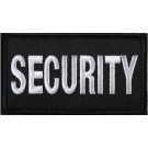 "Black & White Security Hook Patch 1 7/8"" x 3 3/4"""