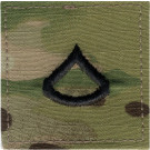 Multi Cam Private 1st Class Rank Insignia Patch