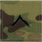 Multi Cam Private Rank Insignia Patch