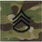 Multi Cam Staff Sergeant Rank Insignia Patch