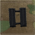 Multi Cam Captain Rank Insignia Patch