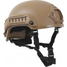 Coyote Brown Tactical Base Jumping Airsoft Plastic Helmet