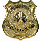 Security Officer Classic Star Badge - Gold