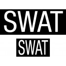 SWAT Law Enforcement Emblem Patch Set (2 Pieces)