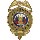 Security Officer Liberty & Justice Badge - Gold