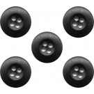 Black Military BDU Buttons 100 Bag
