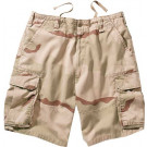 Tri-Color Desert Camouflage Vintage Military Paratrooper Cargo Shorts