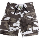 City Camouflage Vintage Military Paratrooper Cargo Shorts