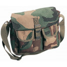 Woodland Camouflage Canvas Military Ammo Shoulder Bag