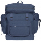 Navy Blue European Style Rucksack Military Backpack