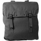 Black Heavyweight Canvas Jumbo Musette Bag