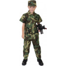 Woodland Camouflage Kids Military Soldier Costume