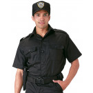 Black Law Enforcement Button Down Short Sleeve Tactical Shirt