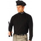 Black Security Long Sleeve Cotton Mock Turtleneck