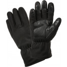 Black All Weather Warm Winter Micro Fleece Gloves
