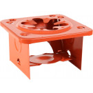 Orange Single Burner Folding Stove