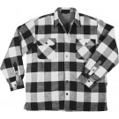 White Heavyweight Buffalo Plaid Sherpa Lined Brawny Shirt