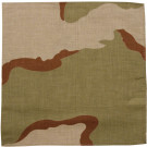 "Tri-Color Desert Camouflage Military 27"" x 27"" Cotton Bandana"