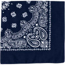 "Navy Blue Trainmen Cotton Paisley Sport 27"" x 27"" Bandana Biker Headwrap"