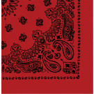 "Red & Black Trainmen Cotton Paisley Sport 27"" x 27"" Bandana Biker Headwrap"