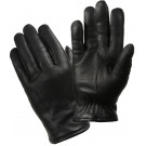 Black Leather Cold Weather Thermoblock Insulated Police Gloves