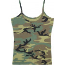 Woodland Camouflage Women's Slim-Fit Casual Tank Top