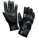 Black Cold Weather Leather Shooting Gloves