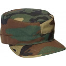 Woodland Camouflage Military Adjustable Patrol Fatigue Cap