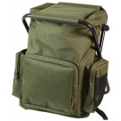 Olive Drab Military Deluxe Backpack & Stool Combination