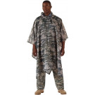 ACU Digital Camouflage Rip-Stop Waterproof Hooded Poncho