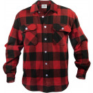 Red Extra Heavyweight Brawny Buffalo Plaid Flannel Shirt